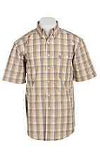 George Strait by Wrangler S/S Mens Plaid Shirt MGSK084X- Big & Talls