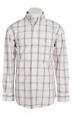 George Strait by Wrangler L/S Mens Plaid Shirt  MGSK086