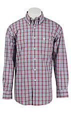 George Strait by Wrangler L/S Mens Plaid Shirt MGSN268X- Big & Talls