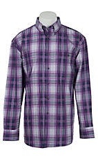 George Strait by Wrangler L/S Mens Plaid Shirt MGSP158