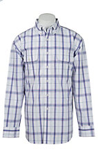 George Strait by Wrangler L/S Mens Plaid Shirt MGSP159