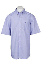 Wrangler George Strait Men's Purple Mini Print S/S Western Shirt