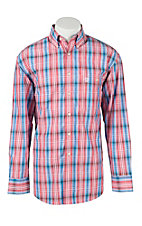 George Strait by Wrangler L/S Mens Plaid Shirt MGSR138