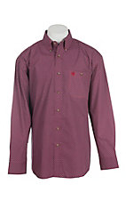 George Strait by Wrangler Men's Red Fleur Di Lei Mini Print L/S Western Shirt