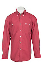 Wrangler George Strait Men's Red Wave Print L/S Western Shirt