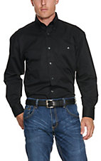 George Strait by Wrangler L/S Mens Solid Shirt MGST1BK