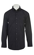 George Strait by Wrangler Men's Black Plaid Western Shirt