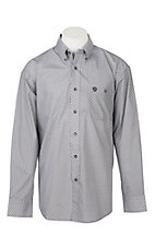 George Straight by Wrangler Men's Cavender's Exclusive L/S Black Geo Print Western Shirt
