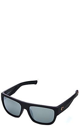 Costa Matte Black Sampan Polarized Sunglasses