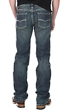 Rock and Roll Cowboy Men's Medium Wash Straight Leg Open Pocket Regular Fit Jeans