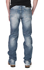 Rock and Roll Cowboy Men's Light Wash Straight Leg Open Pocket Regular Fit Jeans