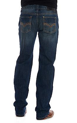 Rock & Roll Denim Men's ReFlex Pistol Straight Brown V Stitched Jean