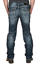 Rock & Roll Cowboy Men's Pistol Straight Reflex Denim Regular Straight Leg Light/Dark Wash Cavender's Exclusive Jeans
