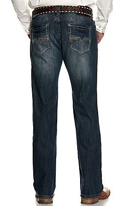 Rock & Roll Denim Men's Pistol Dark Wash Regular Fit Straight Leg Jeans