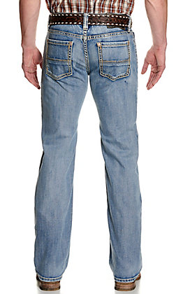 Rock & Roll Denim Men's Pistol Medium Wash Straight Leg ReFlex Stretch Jeans - Cavender's Exclusive