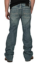 Rock & Roll Cowboy Men's Dark Wash Pistol Straight Jeans