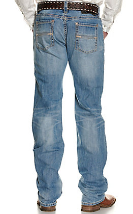 Rock & Roll Denim Men's Pistol Light Wash Regular Fit Straight Leg Jeans