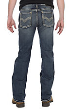 Rock & Roll Cowboy Men's CoolMax Pistol Straight w/ Double V Pocket Stitching Denim Jeans