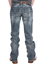 Rock & Roll Denim Men's Pistol Straight Light Wash Jeans