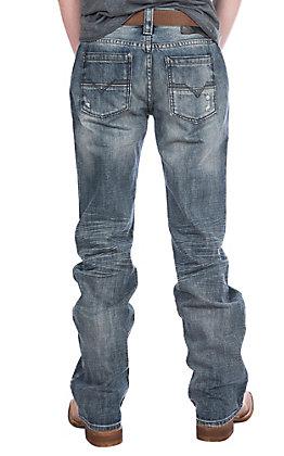 Rock & Roll Denim Men's Pistol Straight Light Wash Jeans