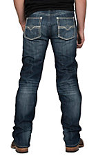 Rock & Roll Cowboy Medium Wash Revolver Straight Slim Jeans