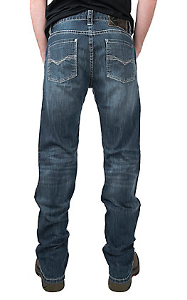 Rock & Roll Cowboy Dark Wash Revolver Straight With Reflex Denim Jeans by Rock & Roll Denim