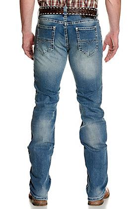 Rock & Roll Denim Men's Revolver Medium Wash Straight Leg Slim Fit ReFlex Stretch Jeans - Cavender's Exclusive