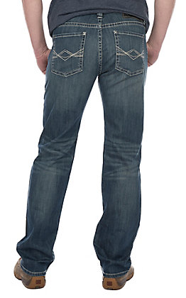 Rock & Roll Cowboy Medium Wash Revolver Slim Straight with AV Plain Pocket Jeans