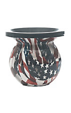 Mud Jug American Flag Classic Spittoon