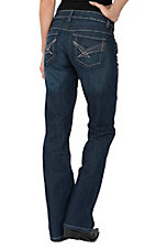 Cinch Women's ADA Dark Wash Mid Rise Relaxed Boot Cut Jeans