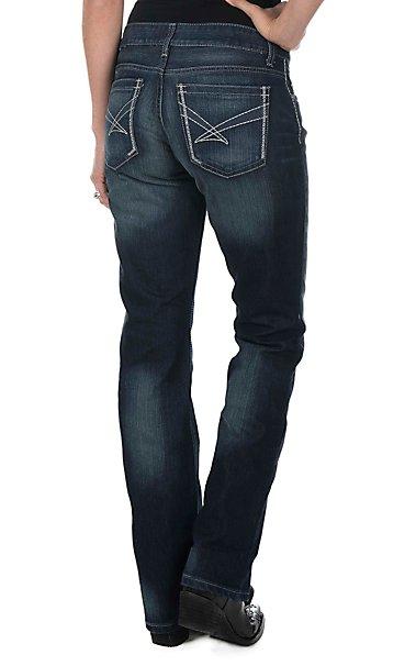 Cinch Women's Dark Wash Open Pocket Relaxed Fit Boot Cut Jeans ...