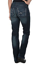 Cinch Women's Dark Wash OPen Pocket Relaxed Fit Boot Cut Jeans