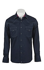 Wrangler 20X Men's L/S Solid Navy Western Snap Shirt