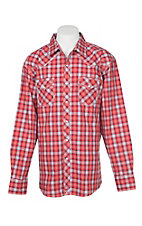 Wrangler 20X Comfort Men's Red Plaid L/S Western Snap Shirt
