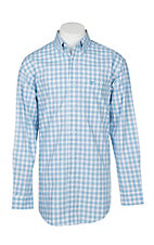 Wrangler 20X Comfort Men's Blue Plaid L/S Western Shirt