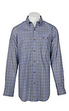 Wrangler 20X Competition Men's Rustic Blue & Tan Medallion Print Stretch L/S Western Shirt