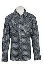 Wrangler 20X Competition Advanced Comfort Black Medallion Print L/S Western Shirt
