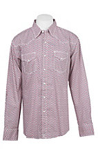 Wrangler 20X Competition Advanced Comfort Red Geo Print L/S Western Shirt