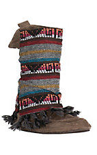 Muk Luks Women's Mayan Blanket Fabric Round Toe Slipper
