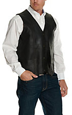 Cripple Creek Men's Antique Chocolate Leather Snap Vest