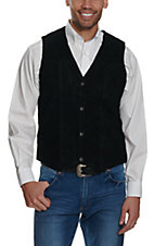 Cripple Creek Black Suede Western Cut Vest