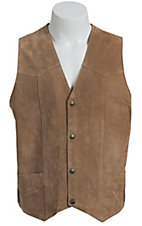 Cripple Creek Tan Suede Western Cut Vest
