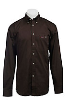 Larro L/S Mens Solid Chocolate Shirt MLSL901BR