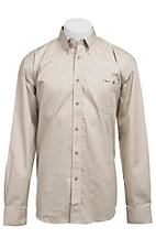 Larro L/S Mens Solid Natural Shirt MLSL901NT