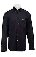 Larro L/S Mens Solid Navy Shirt MLSL901NV