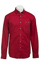 Larro L/S Mens Solid Red Shirt MLSL901RE