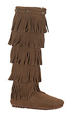 Minnetonka Ladies Dusty Brown 5 Layer Fringe Boot