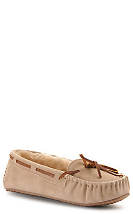Minnetonka Women's Cally Stone with Pile Lining Moccasin Slipper