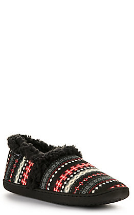 Minnetonka Women's Dina Black Multi Knit Slipper