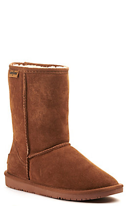 Minnetonka Women's Olympia Golden Tan Suede Round Toe Boots
